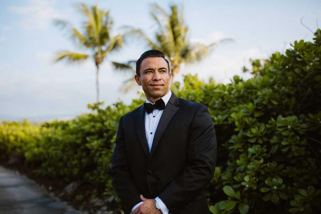 hawaii groom wedding style