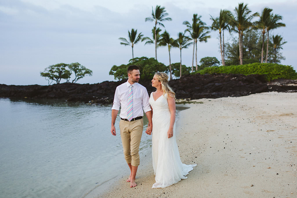 Kukio Beach Kikau Point Park Hawaii Wedding Island