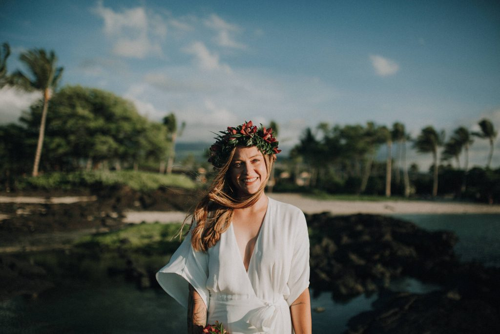 hawaii wedding, big island elopement, hawaii elopement, hawaii wedding, big island wedding, big island wedding ceremony, hawaii beac wedding, hawaii lei, bride flowers, lava wedding, barefoot wedding, bride flowers
