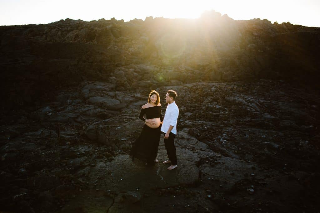 babymoon, big sland babymoon, maternity photo session, hawaii babymoon, hawaii photographer, hawaii maternity, lava fields, hawaii lava fields, makalawena beach, maternity photo sessions ideas