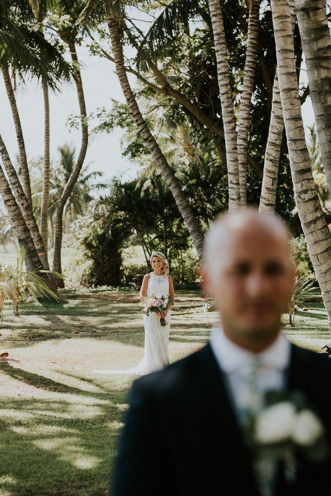 first look hawaii destination wedding
