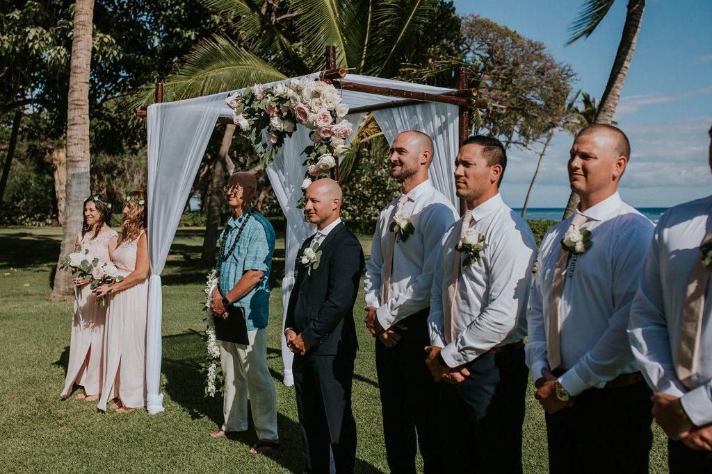 wedding ceremony at the olowalu plantation house