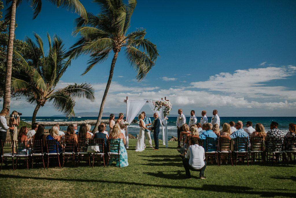 beach wedding in Maui, olowalu weddings