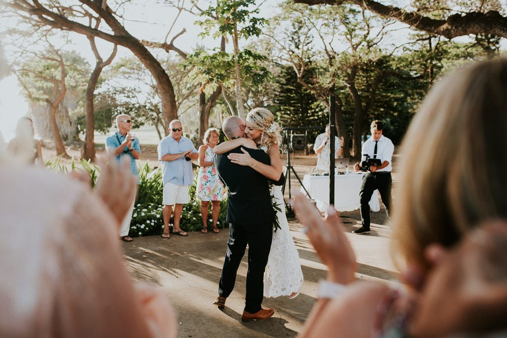 first dance at the olowalu plantation house wedding