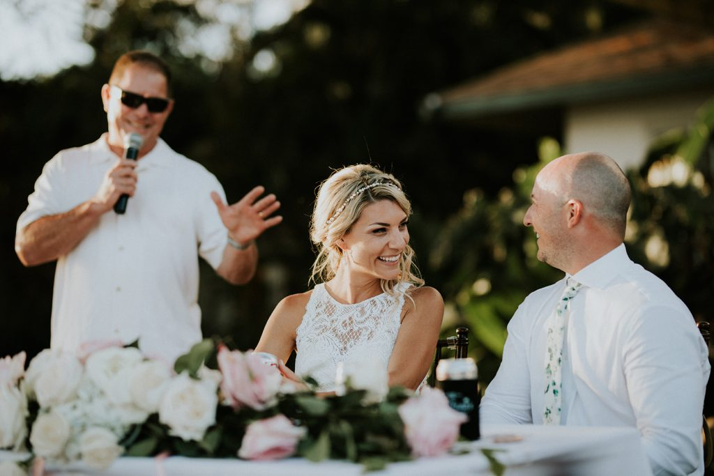 wedding reception in Maui