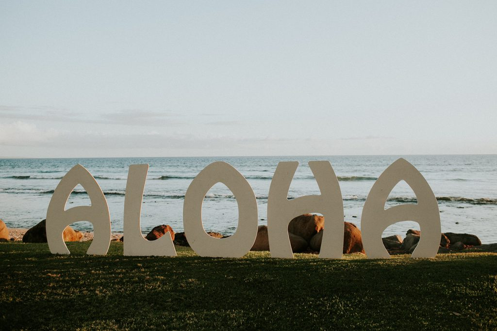 Aloha sign at the Maui Wedding