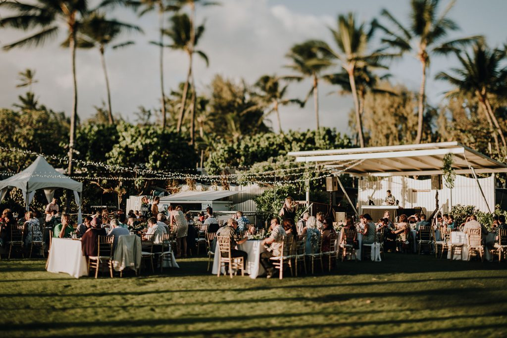 Waikiki Aquarium, Spectrium Entertainment, Honolulu Rentals: Accel Event Rentals, Hawaii Food: Tango Cafe Hawaii   Hair and Makeup: HMB Photography: Couple Cups  Dress: BHLDN Suit: Secret Tailor Ring: Doyle &Doyle Sushi: Superb Sushi