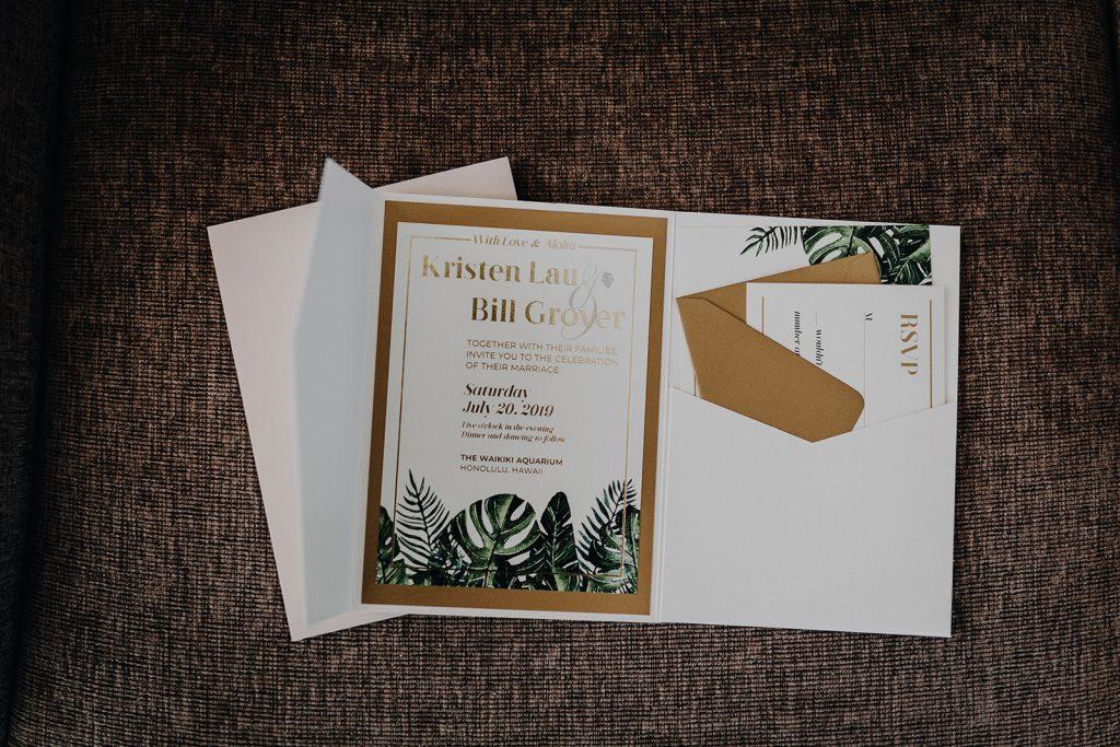 Waikiki Wedding, waikiki aquarium, waikiki aquarium wedding, honolulu wedding, hawaii wedding invitation