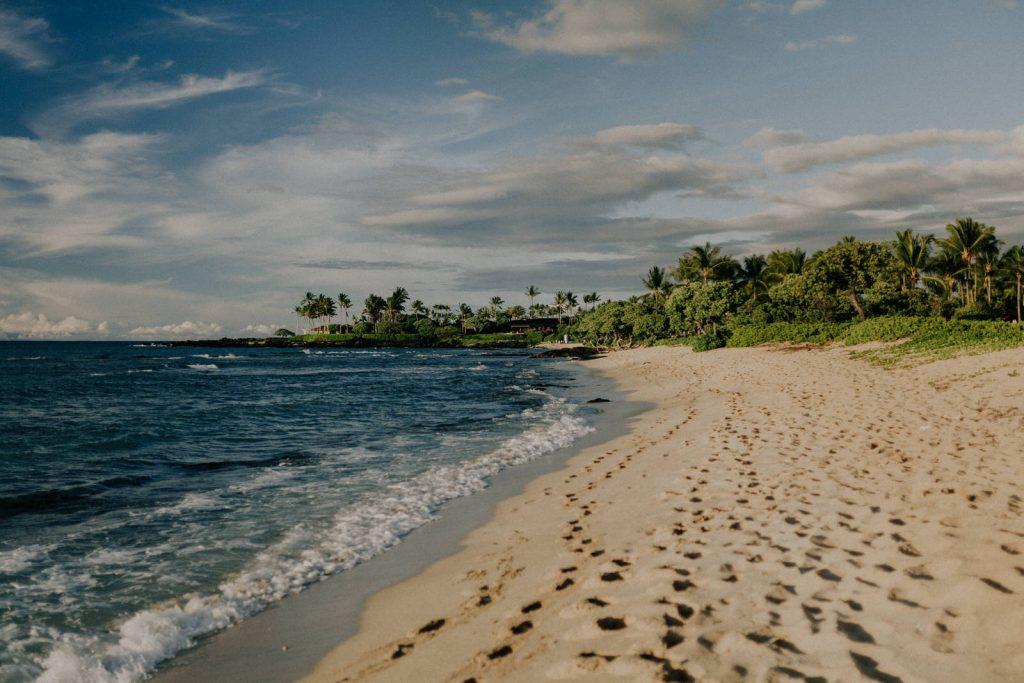 kukio beach for elopements in hawaii