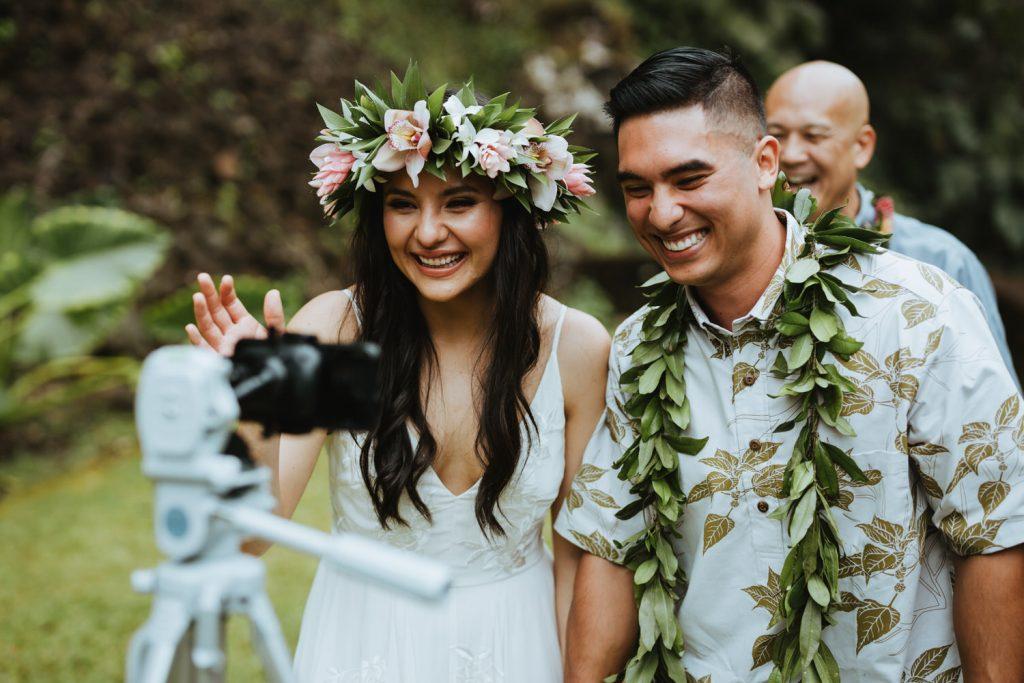 covid hawaii wedding, social distance hawaii wedding, elopement covid hawaii