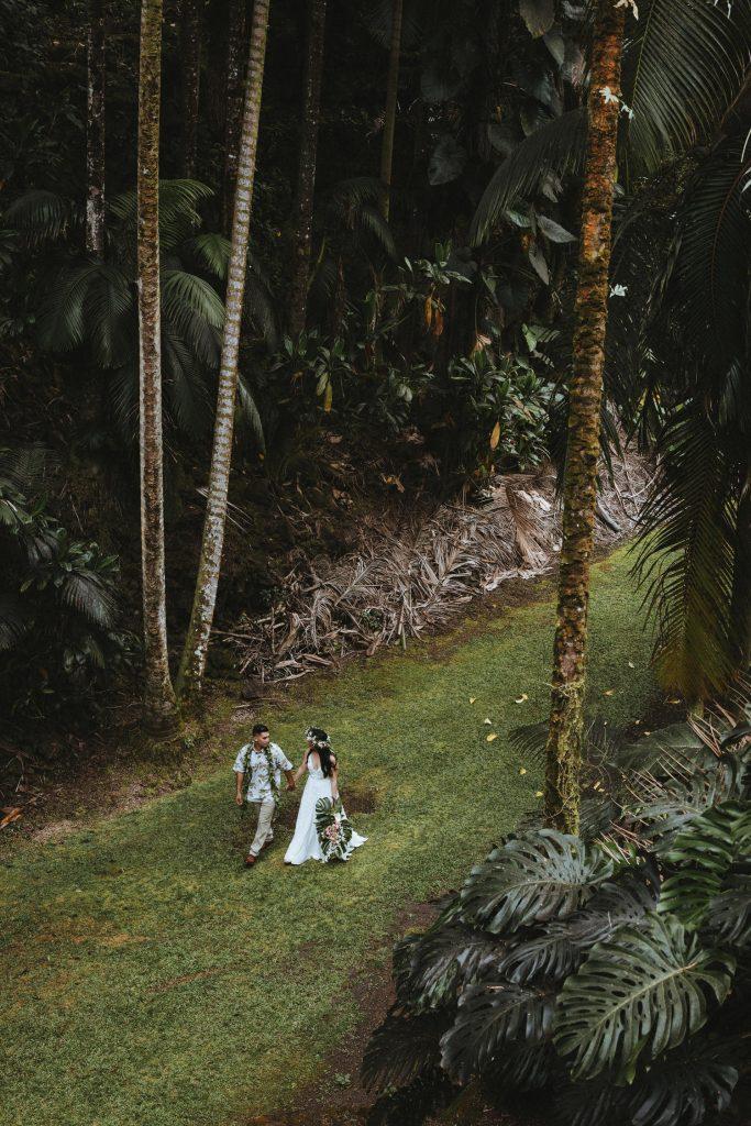 rainforest wedding in hawaii
