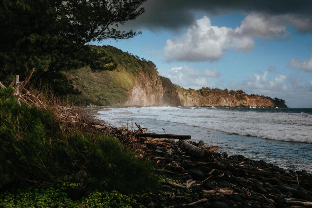 pololu valley, big island elopement