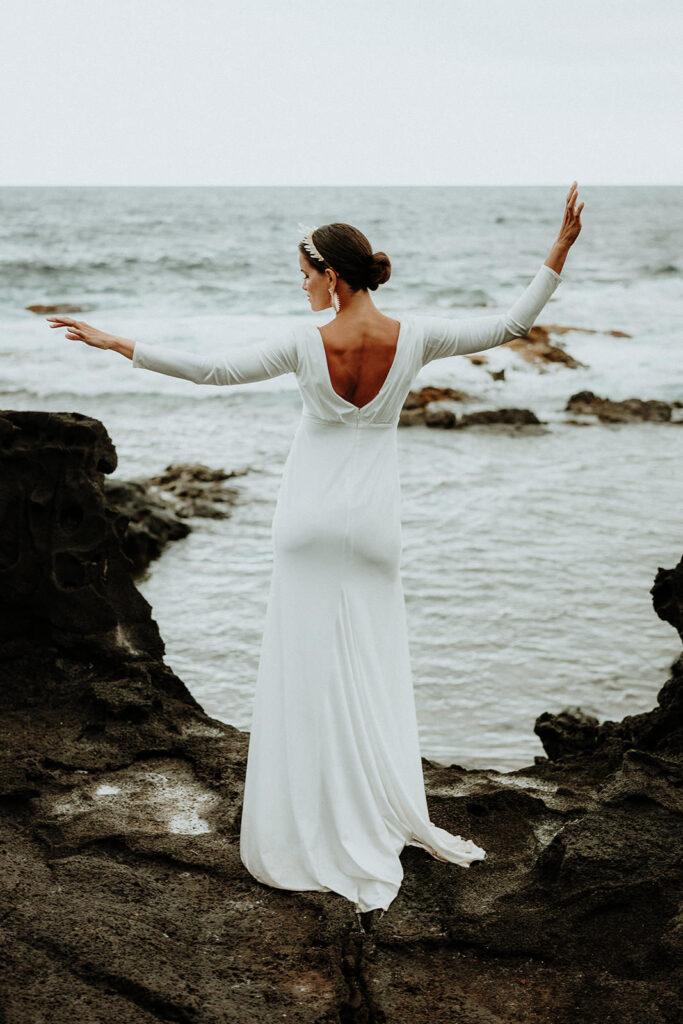 hawaii wedding dress, big island elopement, big island photographer, eloping on the big island hawaii, elopement packages hawaii, big island elopement packages, elope hawaii on the beach, maui elopement, maui photographer, maui weddings, maui elopement packages, big island bride